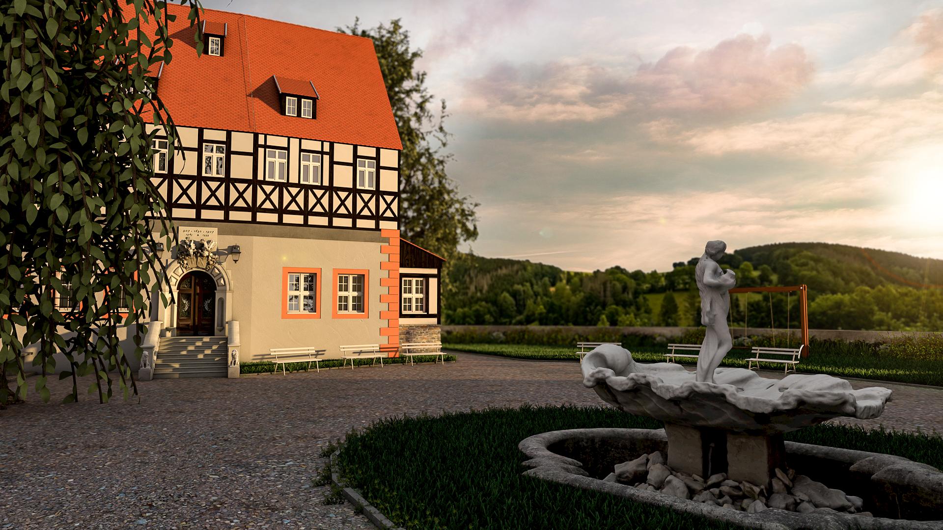 Schloss-mit_Brunnen_ohne_Rahmen